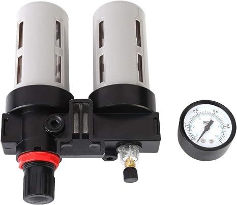 Samfox Compresor de Filtro de Aire 1//2  Compresor de Filtro de Aire Separador de Trampa de Humedad del Agua Accesorios del Regulador