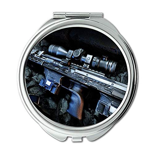 Yanteng Mirror,Makeup Mirror,3 Gun,Round Mirror,hd Gun s p,Pocket Mirror,Portable -