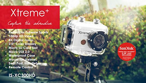 iSwag Xtreme Cam IS-XC300HD (2-Inch Display, 1080P HD) by iSwag