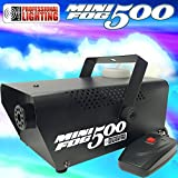Fog Machine - 500 Watt Mini Fog Machine with Remote - Impressive 2,000 Cubic ft. per minute