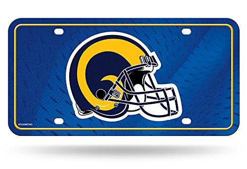 NFL Los Angeles Rams Metal License Plate Tag