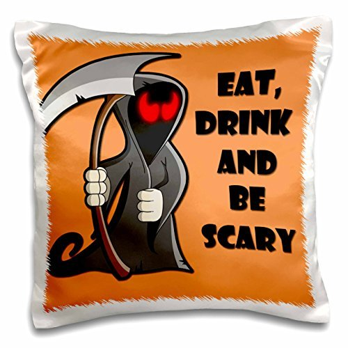 onepicebest Halloween Quotes - Eat, Drink and be Scary- Halloween Funny Quotes- Popular Saying- - 18x18 inch Pillow Case]()