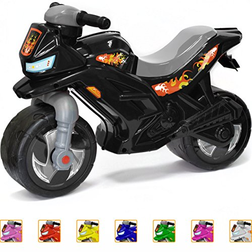 Ride-on Push Bike for Toddlers and Kids 2-5 Years Old Plastic Balance Bike Outdoor & Indoor Stroller Toy Motorcycle 2 Wheel Walking Activity Trainer Lightweight Washable