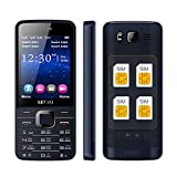 Auntwhale Four SIM Cell Phone for Seniors GSM/WCDMA 2.8'' IPS Bluetooth Mobile Cell Phone