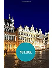 Brussels Notebook: blank lined composition journal   Brussels notebook   100 pages