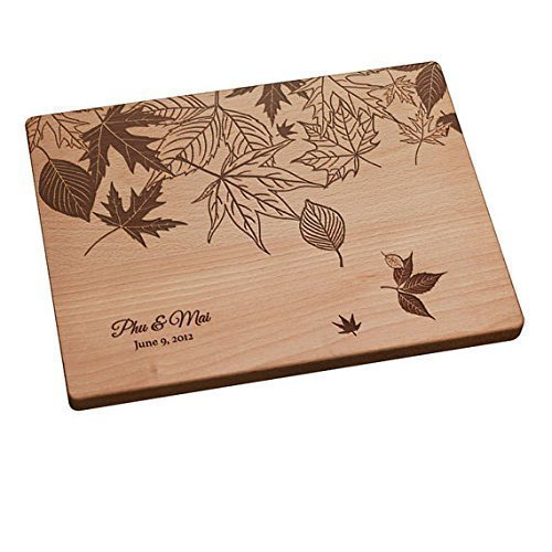 Personalized Cutting Board - Fall Leaves