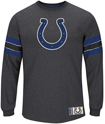 ファッションなデザイン Indianapolis B00STVDWA2 Indianapolis 6L ColtsチームスポットライトMajestic長袖シャツチャコールビッグサイズ 6L B00STVDWA2, ヤマガタムラ:53e12feb --- a0267596.xsph.ru