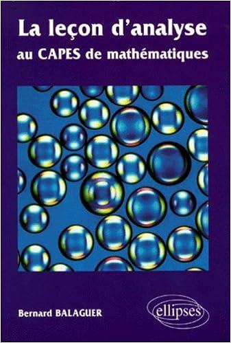 Lire La leçon d'analyse au CAPES de  mathématiques pdf