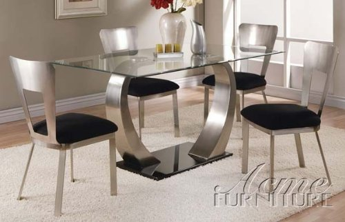 Amazon.com - ACME Camille Side Chair, Chrome Finish, Set of 2 - Chairs