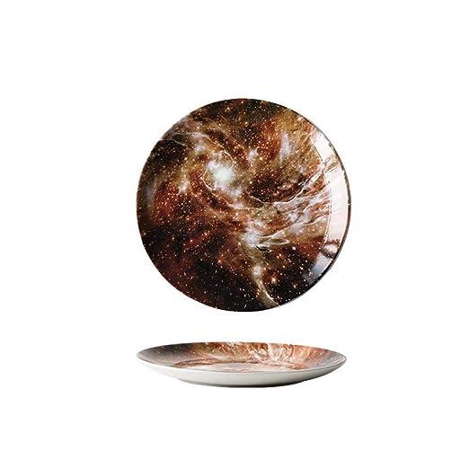 Desayuno Western - Fuente redonda para carne (20,3 cm): Amazon.es ...