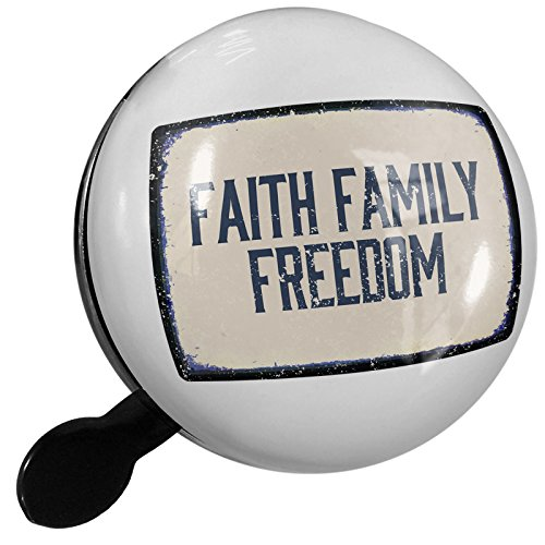 Small Bike Bell Faith Family Freedom Fourth of July Aging Vintage Blue - NEONBLOND by NEONBLOND