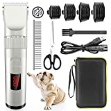 Best Dog Clippers Sets - Avaspot Dog Clippers, Professional Cordless Electric Pet Clippers, Low Review