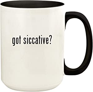 got siccative? - 15oz Ceramic Colored Handle and Inside Coffee Mug Cup, Black