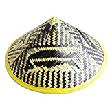 4644fb7ab8fc87 Sunnyhill Chinese Oriental Bamboo Straw Cone Garden Fishing Hat Adult Rice  Hat (Style2)