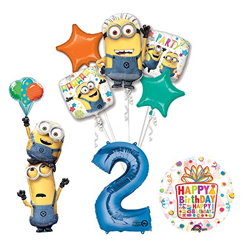 Despicable Me Birthday Party Supplies (Despicable Me 3 Minions Stacker 2nd Birthday Party Supplies and balloon Decorations)