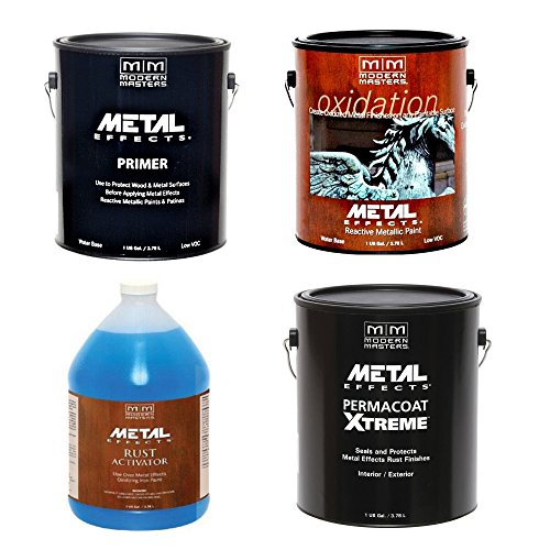 Modern Masters Metal Effects Iron Paint & Rust Activator Kit (Gallon)