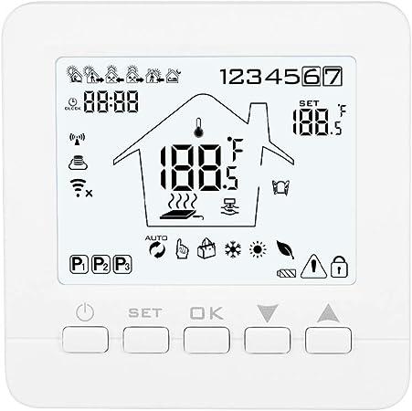 Contr/ôleur de temp/érature MOES Smart Thermostat WiFi Smart Life APP T/él/écommande pour le chauffage /électrique Fonctionne avec Alexa Google Home 16A