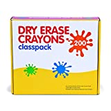 Eight-Colour Dry Erase Crayon Classpack - Drawing Utencils - 200 per Pack