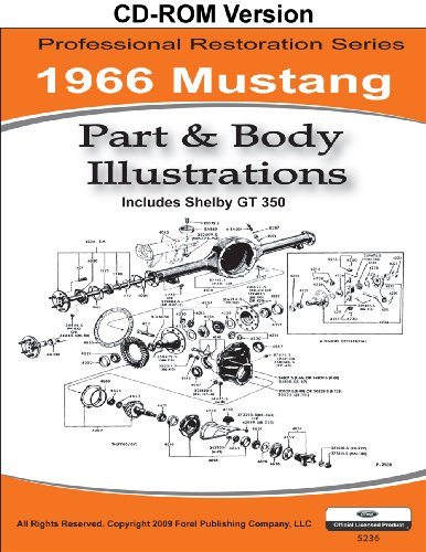 Classic Ford Mustang Parts (1966 Mustang Part and Body Illustrations)