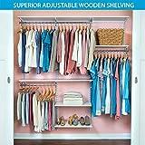 "walk in closet design Organized Living freedomRail Basic Adjustable Closet Organizer Kit, 72""- 76"",White"