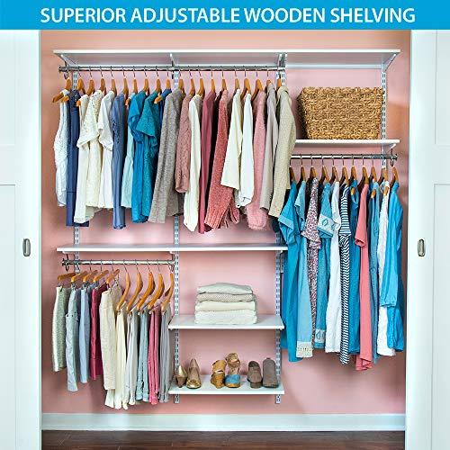 Cheap  Organized Living freedomRail Basic Adjustable Closet Kit , 72