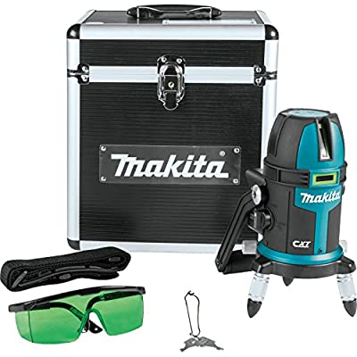 Makita SK209GDZ 12V max CXT Lithium-Ion Cordless Self-Leveling Multi-Line/Plumb Point Green Beam Laser, Tool Only