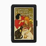 chocolat dispenser - Perfection In Style Black Color Metal Cigarette Case D-081 Compagnie Francaise Des Chocolats Et Des Thes
