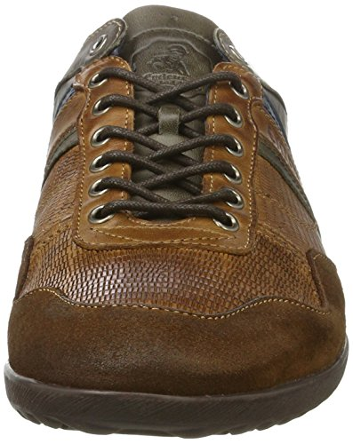 Cycleur de luxe Crash Herren Sneakers Mehrfarbig (Cognac+Military Green)