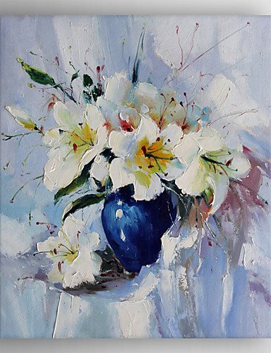 Oil painting modern impression white flower painting hand painted oil painting modern impression white flower painting hand painted canvas with stretched framed ready to hang mightylinksfo