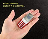 Vaku World's Smallest Dual-Sim Nano Phone with Voice Changer, Alarm, Bluetooth etc. (Red)
