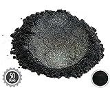 50gr''Samurai Black'' Mica Powder Pigments (Resin, Paint, Epoxy, Soaps, Nail Polish, Liquid Wraps)