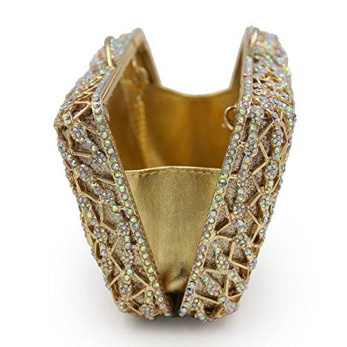 Lujo Paquete Del Diamante Metal Cristal Taladro Lleno Bolso De Tarde Europa Y Los Estados Unidos Señoras Bolso De Mano Black