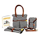 #6: Diaper Bag Designer Elegant, Functional and Durable, Includes Diaper Changing Pad, Insulated Baby Bottle Holder - Perfect Baby Shower Gifts - Bonus Ebook