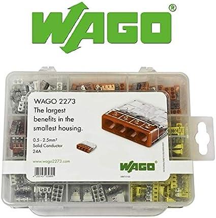 WAGO 2273 Series Coffret avec 200 connecteurs de c/âblage 2273 0887-0100 par Gas N Pow3r