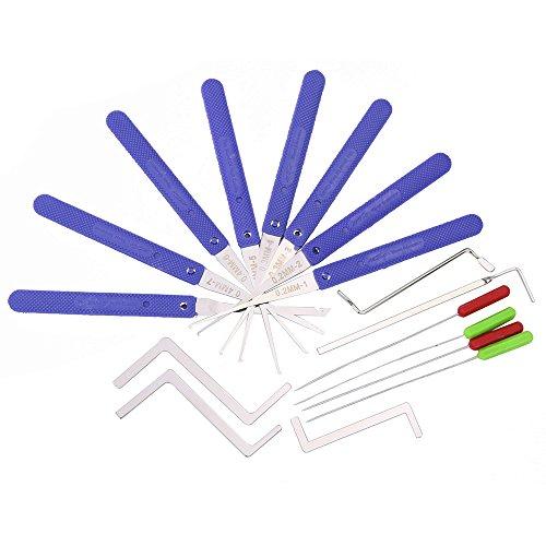 Broken Key Extractor - Supyigou Broken Key Extractor Tools Door Lock Repair Tools Locksmith Supply (Klom 10pcs+5pcs tension tools)