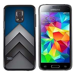 "For Samsung Galaxy S5 Mini ( NOT for regular S5 ) , S-type Flechas minimalistas"" - Arte & diseño plástico duro Fundas Cover Cubre Hard Case Cover"