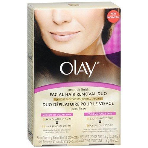 Olay Smooth Finish Facial Hair Removal Duo Kit, Coarse Hair 1 kit by AB