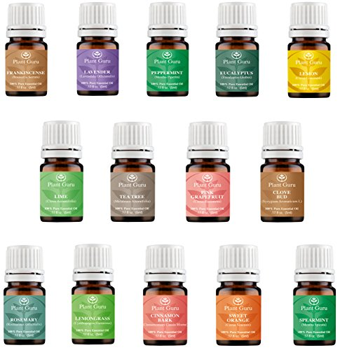 Essential-Oil-Set-14-5-ml-Pure-Therapeutic-Grade-Includes-Frankincense-Lavender-Peppermint-Rosemary-Orange-Tea-Tree-Eucalyptus-Grapefruit-Lemon-Lime-Clove-Spearmint-Lemongrass-Cinnamon