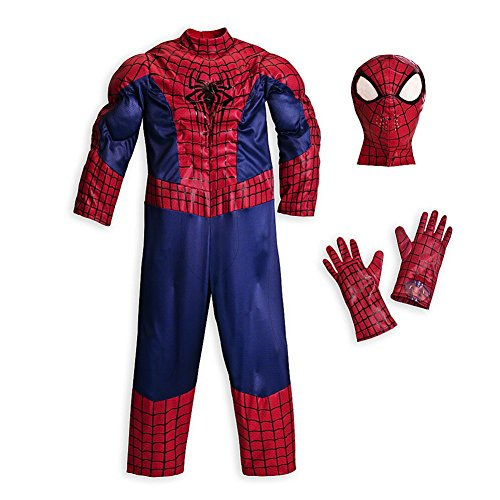 Disney Store Deluxe Amazing Spiderman Costume Halloween XS Extra Small 4 4T