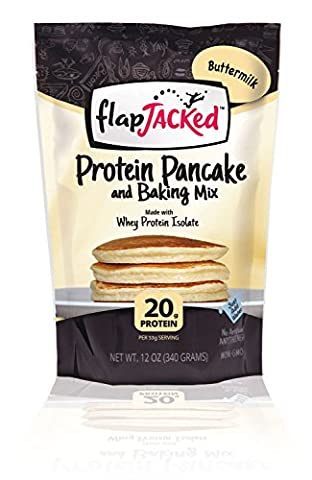 FlapJacked Protein Pancake and Baking Mix, Buttermilk, 12oz - Simply Delicious Muffins