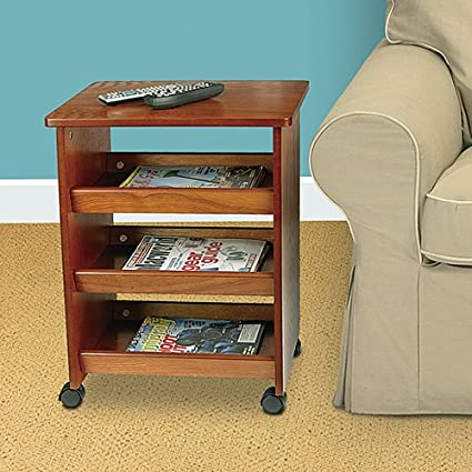 & Amazon.com: Rolling Side Table: Kitchen u0026 Dining