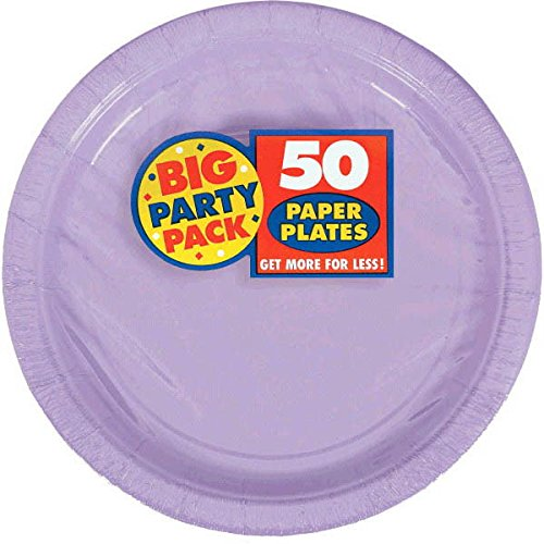 Big Party Pack Lavender Paper Plates | 9'' | Party Supply | 300 ct.