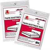 """4 Twin Size Mattress Covers / bags 40"""" x 12"""" x 86"""" (2 Sets of 2) for Box Spring & Mattress"""