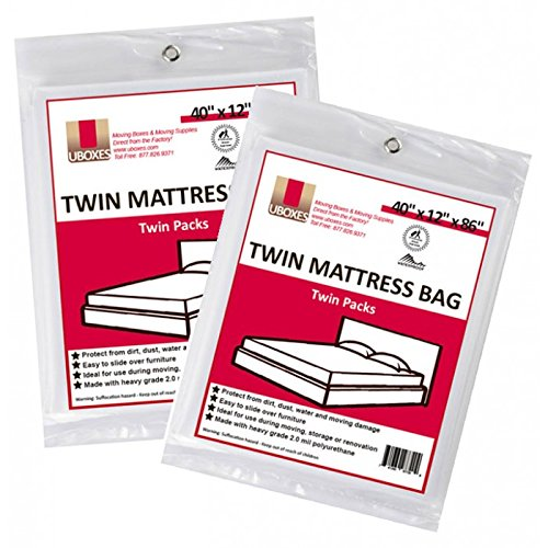 "Price comparison product image 4 Twin Size Mattress Covers/bags 40"" x 12"" x 86"" (2 Sets of 2) for Box Spring & Mattress"