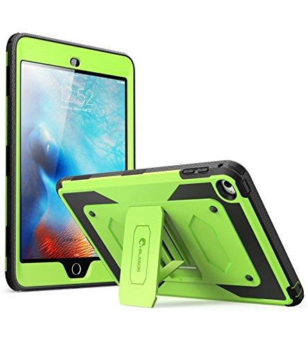 iPad Mini 4 Case, [Heave Duty] i-Blason Apple iPad Mini 4 2015 Armorbox [Dual Layer] Hybrid Full-body Protective Kickstand Case with Front Cover / Screen Protector / Bumpers (Green)