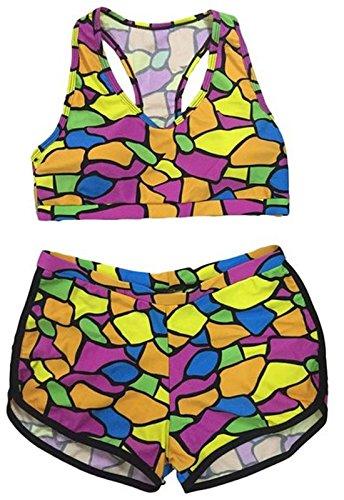 4eb073ffe56a3 Rapidev QingLemon Women Bandage Sporty Bathing Suit Boyleg Short ...