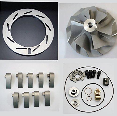 Vane Compressor - 04.5-05 Duramax 6.6 LLY GT3788va TurboCharger Inconel Unison Ring+ Vanes 9PCS+GT3788VA Rebuild Kit+GT3788VA Compressor Wheel 6+6
