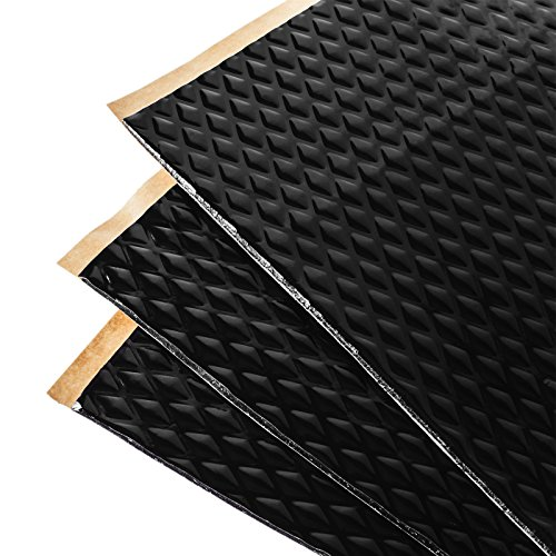 Noico Black 80 Mil 36 Sq Ft Car Sound Deadening, butyl automotive deadener restoration mat and Noise dampening insulation (Best Sound Deadening Material)