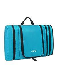 Bagail Pack It - Neceser plano para hombre y mujer, impermeable, portátil y espacioso, bolsa organizadora de cosméticos de viaje para accesorios de viaje, artículos personales, maquillaje y afeitado