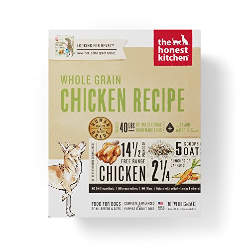 Honest Kitchen The Human Grade Dehydrated Organic Grain Chicken Dog Food, 10 Lb Box - Revel